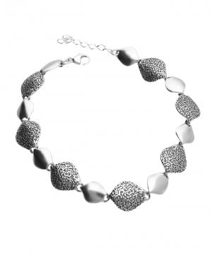Bransoletka srebrna oksydowana łezki