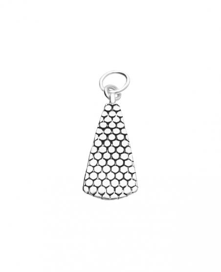 Wisiorek srebrny oksydowany trójkąt
