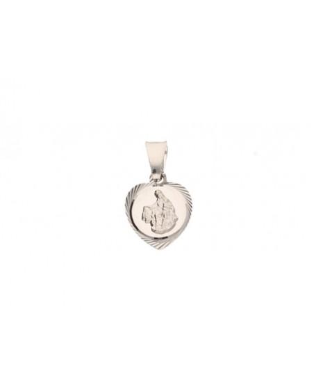 Srebrny medalik z wizerunkiem Matki Boskiej Szkaplerznej