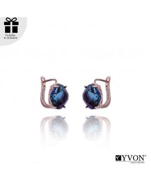 Kolczyki Yvon - szkło fasetowane