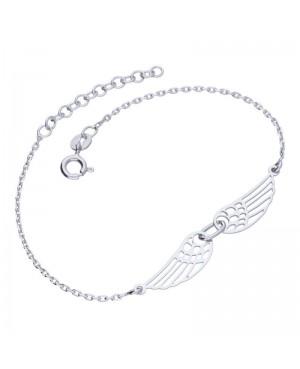 Bransoletka srebrna ze skrzydłami