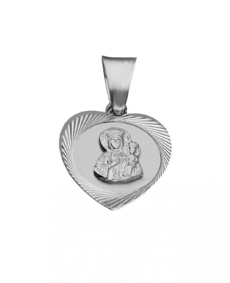 Medalik srebrny serce