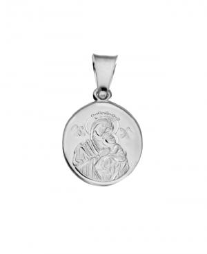 Medalik srebrny -  Maryja z Dzieciątkiem