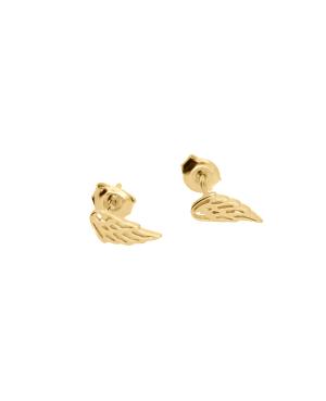 Kolczyki srebrne – pozłacane skrzydełka