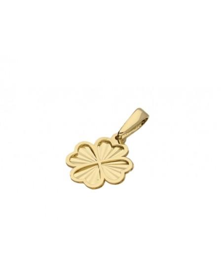 Wisiorek złoty czterolistna koniczynka